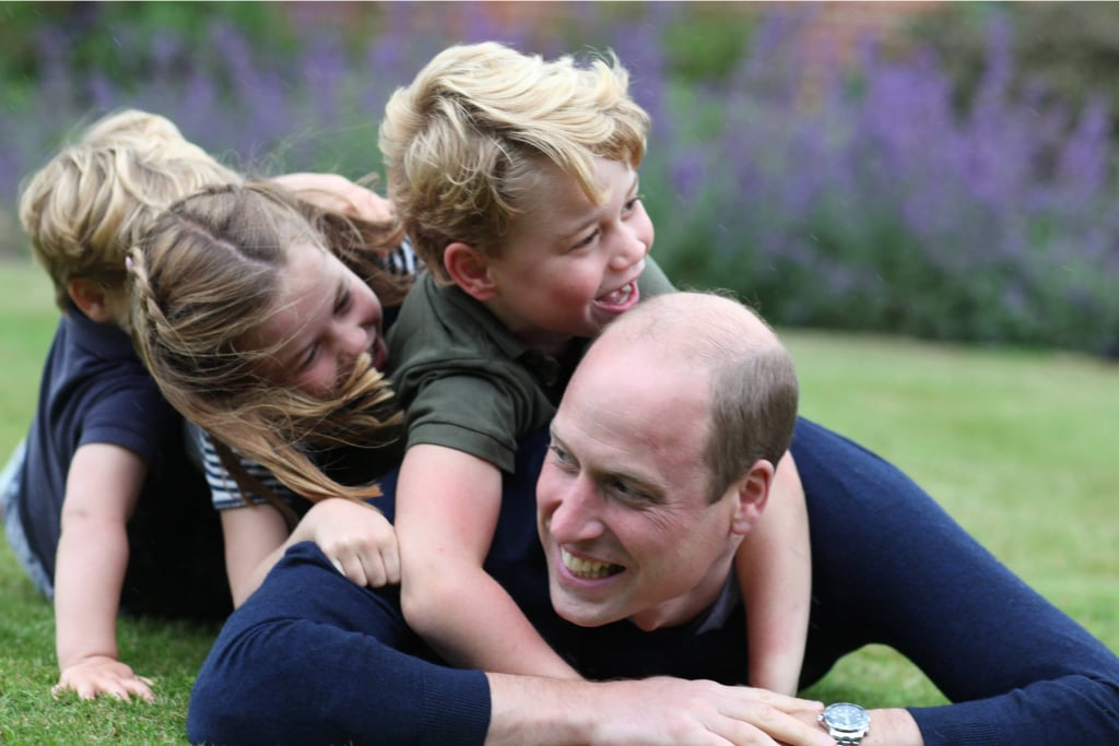 "Prince William celebrated his 38th birthday on June 21 and commemorated the occasion with fun photos taken by his wife, Kate Middleton. The couple shared their family pictures via the couple's Instagram account on Saturday and Sunday, and they're absolutely adorable. Kate's snaps feature William on a swing surrounded by their three kids: 6-year-old George, 5-year-old Charlotte, and 2-year-old Louis.  ""The Duke and Duchess of Cambridge are very pleased to share a new picture of The Duke with Prince George, Princess Charlotte and Prince Louis ahead of The Duke's birthday tomorrow,"" the photo's caption reads. ""The picture was taken earlier this month by The Duchess."" William's birthday also happens to fall on Father's Day in the United States this year, which makes this photo set even more lovely. He's being honored in more ways than one by his nearest and dearest.      Related:                                                                                                           The Absolute Funniest Pictures of Prince George and Princess Charlotte"