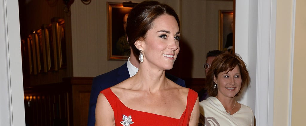 Kate Middleton Red Preen Dress in Canada Sept. 2016