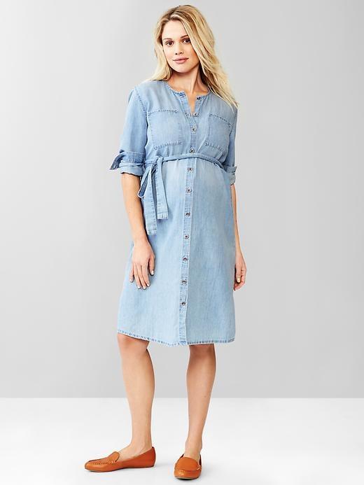 Gap Collarless Button-Front Dress