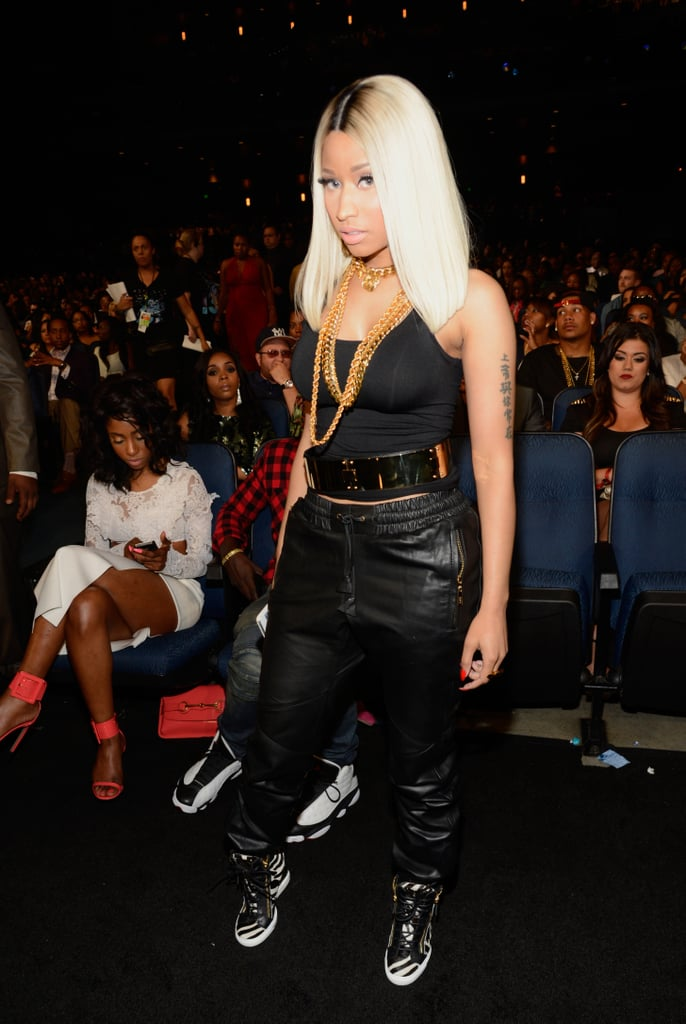 Nicki Minaj went for a casual look.