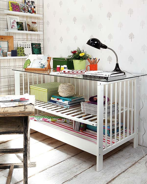 Upcycle Your Crib Into a Grown-Up Desk