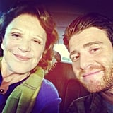 Bryan Greenberg took a picture with his onscreen mom while filming A Short History of Decay. Source: Instagram user bryangreenberg