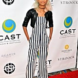We Were Frankly Pretty Obsessed With Willow in This Chanel Striped Jumpsuit