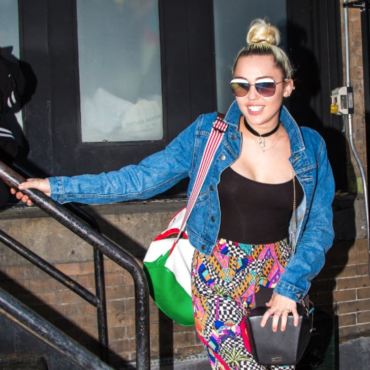 Wondrous Miley Cyruss Patterned Pants June 2016 Popsugar Fashion Hairstyle Inspiration Daily Dogsangcom