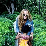 Beyoncé shared a sweet snap with her daughter, Blue Ivy. Source: Instagram user beyonce