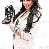Kim Kardashian rang in ShoeDazzle's first birthday at a Miami Beach event in March 2010.