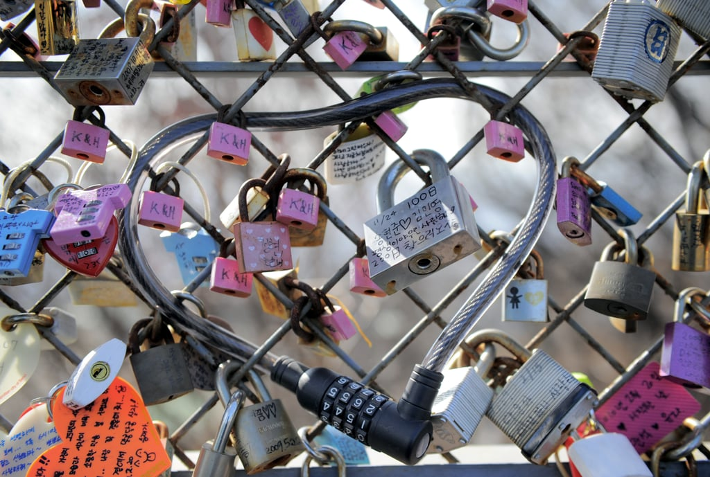 Locks Of Love On The Top Of Nam Mountain In Seoul South
