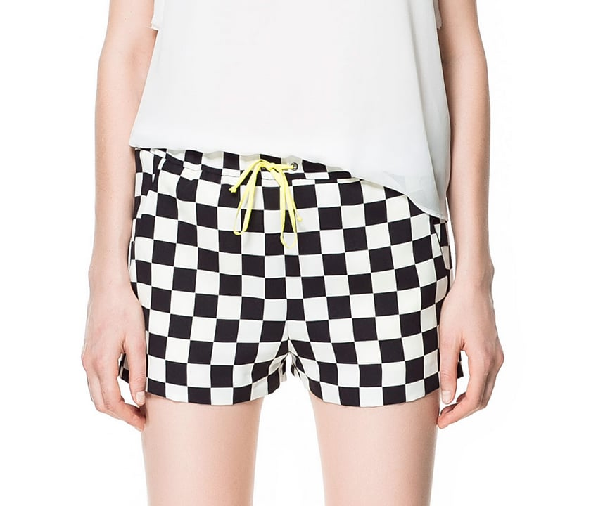 Zara's checkered shorts ($40) are a nod to Louis Vuitton's Spring '13 collection.