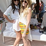 Lauren Conrad struck a pose with Lea Michele at the Lacoste party.