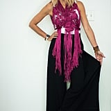With a Maxi Skirt, a Fringed Top, a Wide-Brimmed Hat, and Black Booties