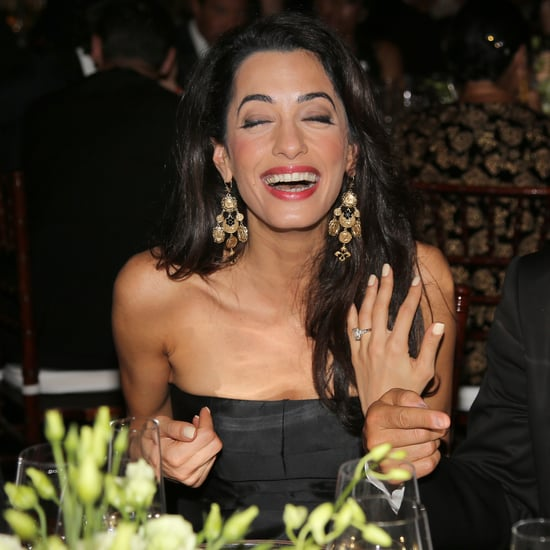 Amal Clooney's Engagement Ring Is a 7-Carat Stunner