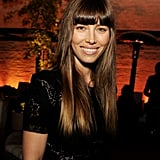 Jessica Biel had a smile on her face at the LA premiere of Trouble With the Curve.