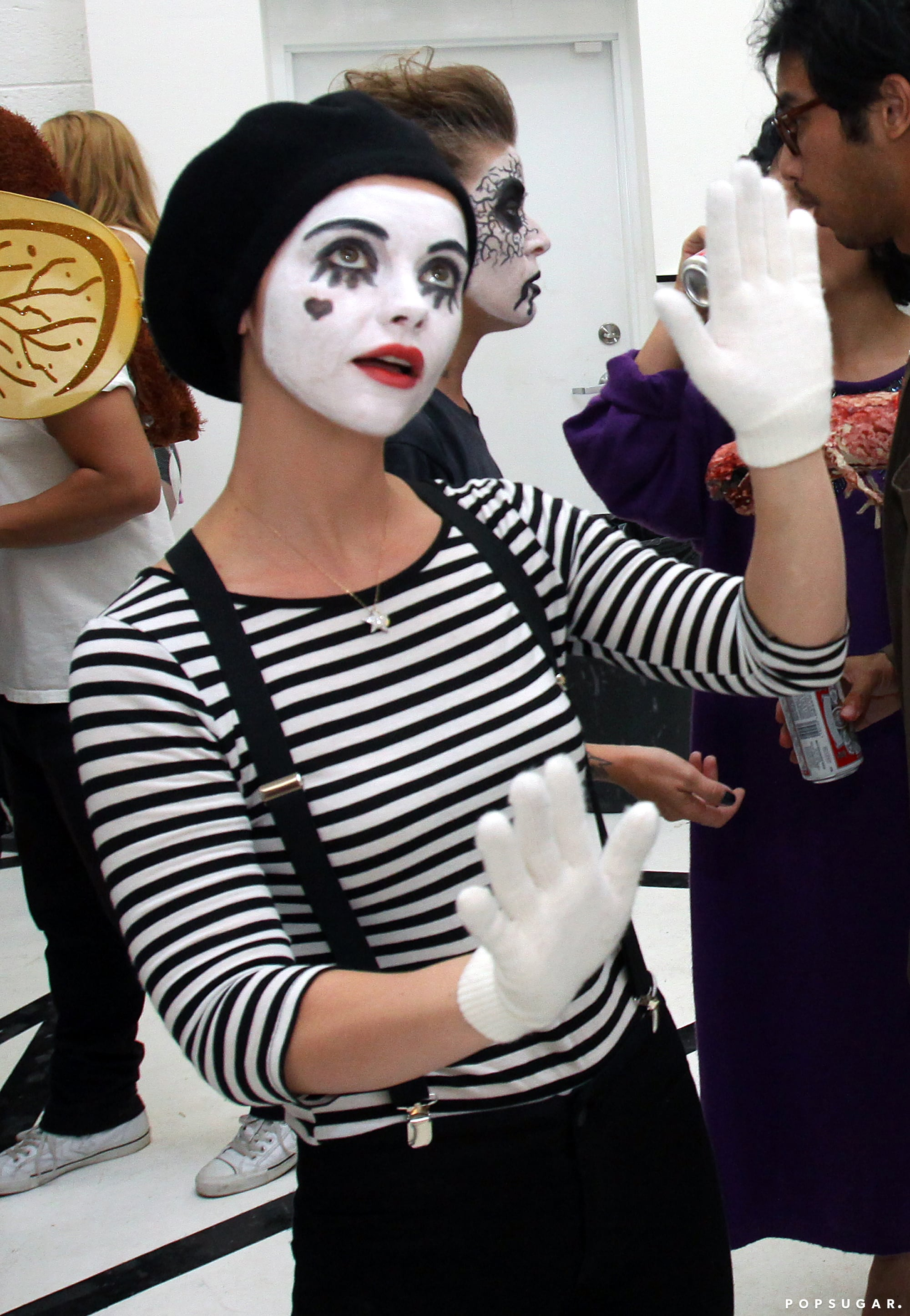christina ricci as a mime stars prove sexy isn 39 t always better on halloween popsugar celebrity. Black Bedroom Furniture Sets. Home Design Ideas