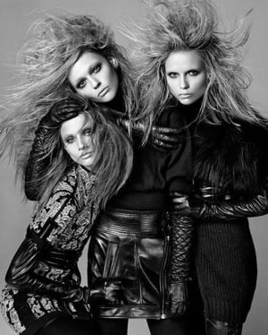 Photos From Phi 2009 Fall Ad Campaign Featuring Anna Selezneva, Sasha Pivovarova, and Natasha Poly