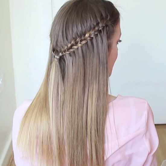 How to Do a Scissor Waterfall Braid