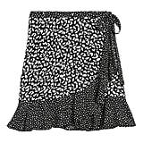 Ruffle Wrap Mini Skirt