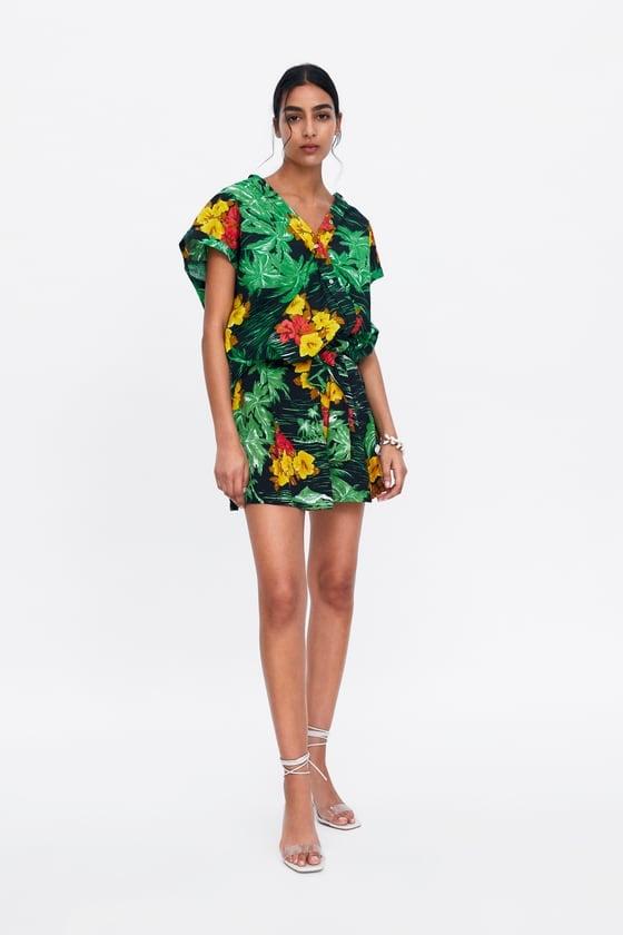 Zara Multicolored Floral Print Shirt