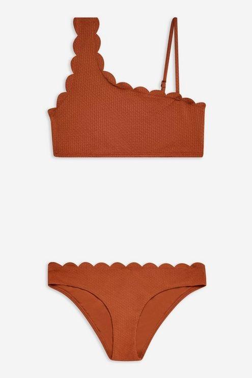 Topshop Scallop Bikini Set