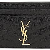 Saint Laurent Quilted Monogram Leather Card Holder