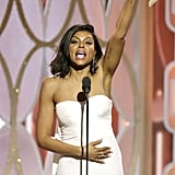 Taraji P. Henson Wins, Passes Out Cookies