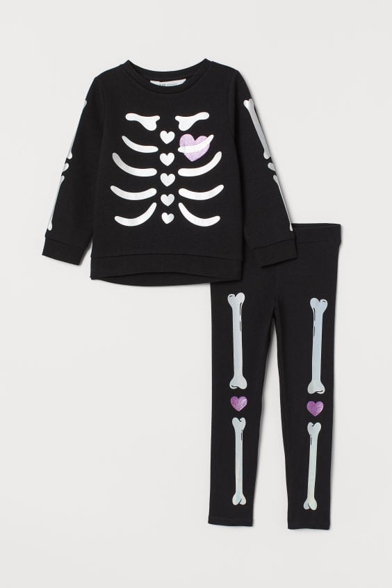 Skeleton Sweatshirt and Leggings