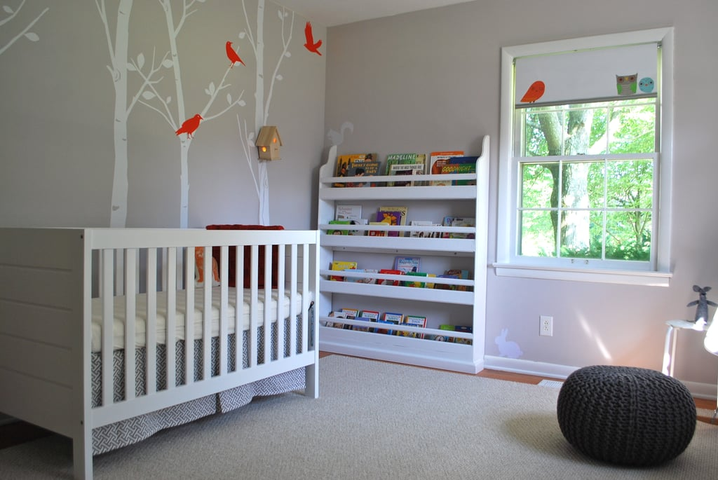 Bird-Themed Gray Nursery