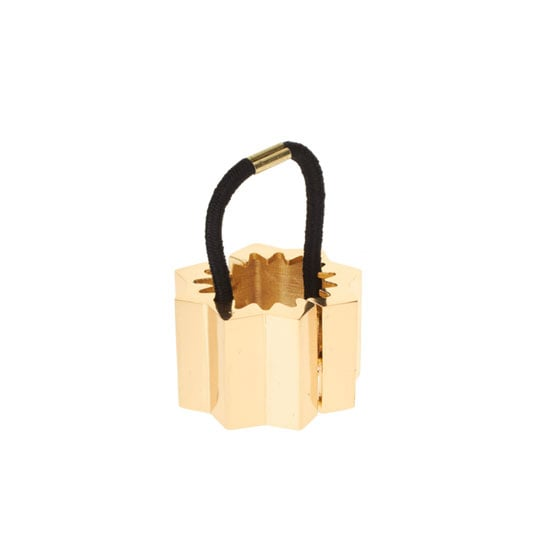 ASOS Gold Corrugated Hinged Ponytailer, approx $17.01