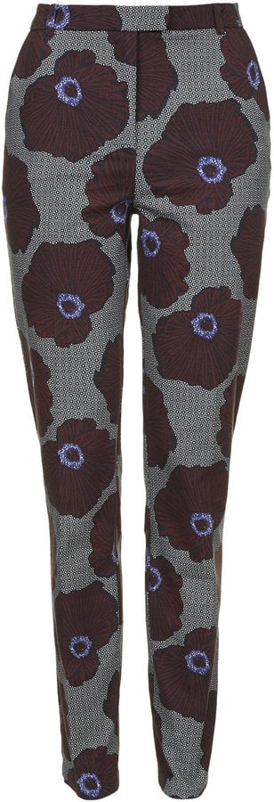 Topshop Floral Bloom Cigarette Trousers