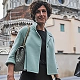 Agnese's Wardrobe Is Complete With Chainstrap Purses and Tailored Coats