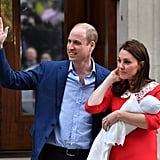 Kate Middleton Red Dress Leaving Hospital 2018