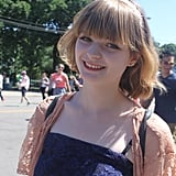 This festivalgoer reminds us of a young Mia Wasikowska with her blunt bangs and barely-there makeup.