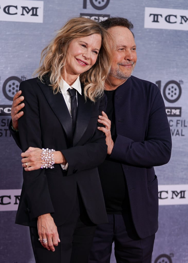 "Meg Ryan and Billy Crystal reunited to prove once and for all that women and men can indeed be friends . . . which does, in fact, go against the entire point of When Harry Met Sally. To celebrate the 30th anniversary of the seminal romantic comedy, the costars recently attended a screening and discussion during the 2019 TCM Classic Film Festival. Also in attendance was director Rob Reiner, who posed for pictures with Ryan and Crystal.  Nora Ephron, who wrote the movie along with many other Meg Ryan classics like Sleepless in Seattle and You've Got Mail, sadly passed away from complications of leukemia in 2012. In a recent interview with The New York Times, Ryan  reminisced about Ephron, saying, ""Her observation about romantic comedies is that they were commenting on their time in an intelligent way, but with the intention to delight."" See photos of the bittersweet yet heartwarming reunion ahead.       Related:                                                                                                                                James Corden and Billy Crystal's When Harry Met Sally Parody Must Be Seen to Be Believed"