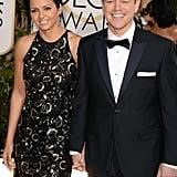 Matt Damon was all smiles alongside his wife, Luciana.