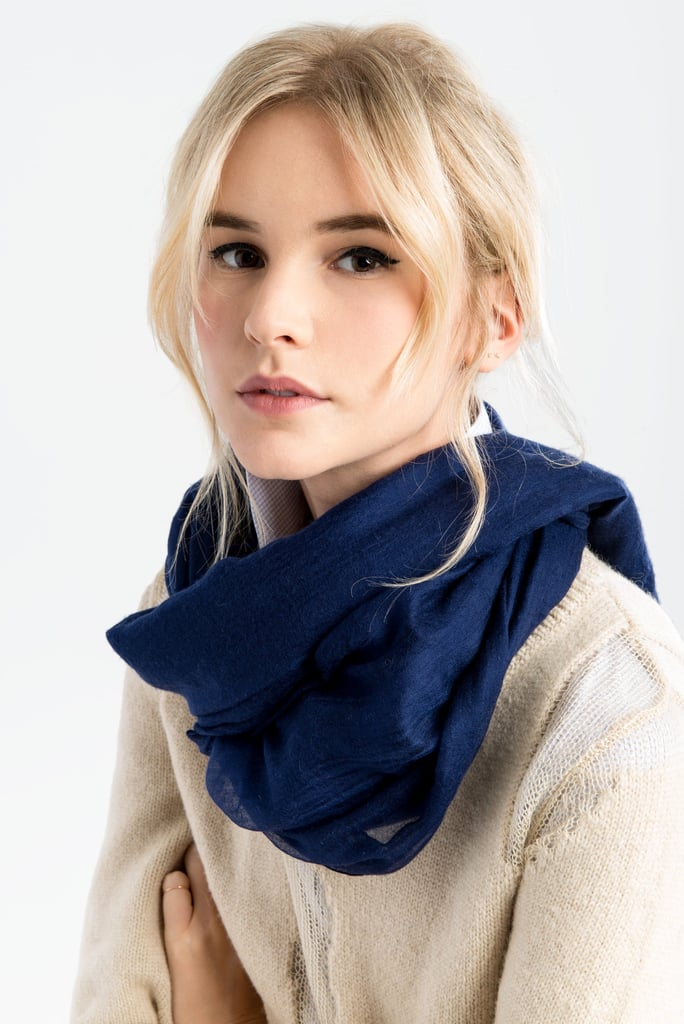 A cashmere infinity scarf