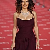 Salma Hayek showed off her curves in a gorgeous, body-hugging gown.