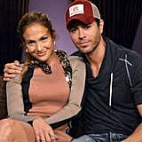 Enrique Iglesias hugged Jennifer Lopez at a press conference to announce their Mega tour.