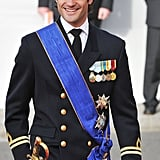 Prince Carl flashed a big grin in October 2012.