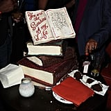 Make a book-themed cake.