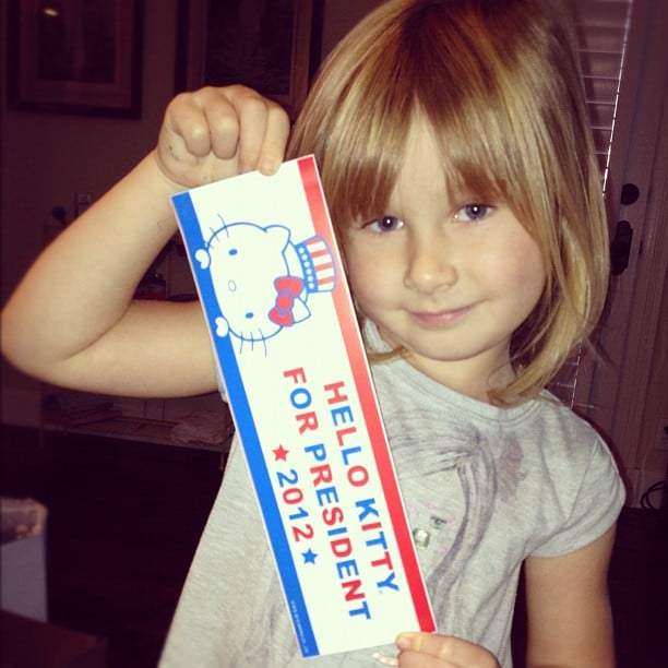 Stella McDermott showed off her political preference on Election Day! Source: Instagram user torianddean