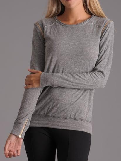 David Lerner Shoulder Zip Sweatshirt ($146)