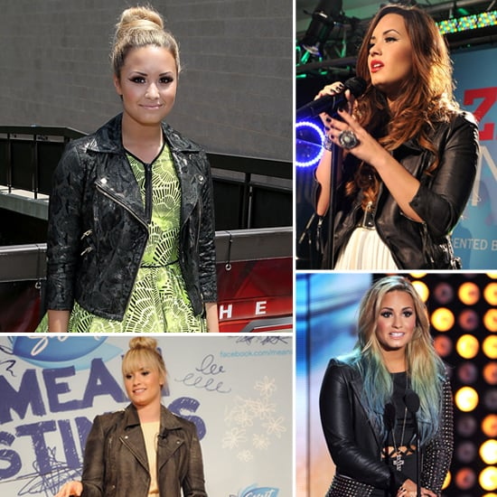 Demi Lovato Wearing Leather Jacket