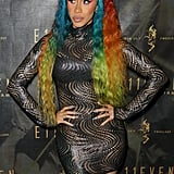 Cardi B Rainbow Hair December 2018