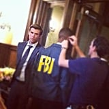 Liam Hemsworth looked suave on the set of Paranoia. Source: Instagram user liamhemsworth_