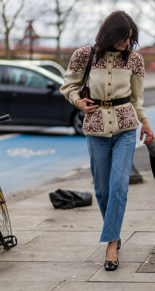 Take that cardigan look to the next level by adding a belt on top, nipping in your waist with even the chinkiest of knits.
