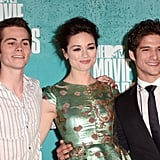 Dylan O'Brien, Crystal Reed and Tyler Posey