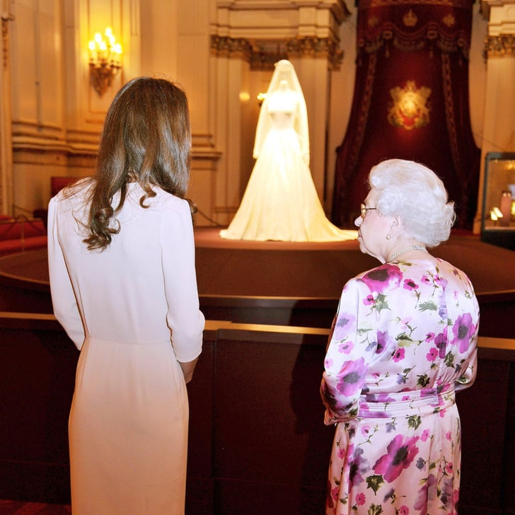 Kate Middleton's Wedding Dress Display at Buckingham ...