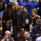 Barack Obama at the UNC Duke Basketball Game Feb. 2019