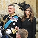 Elizabeth Hurley was in London on Thursday to film the pilot of The Royals.