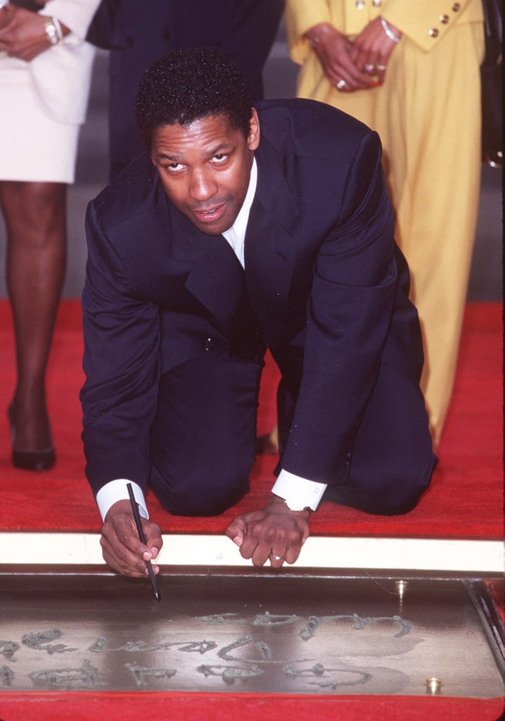 Denzel Washington at Mann's Chinese Theater in 1998