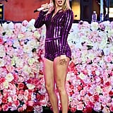 Taylor's Sparkly Purple One-Piece